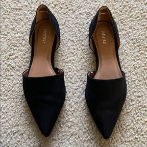Black Pointed Flats (Never used)